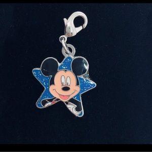 Disney Mickey Mouse Star Silver & Blue Charm